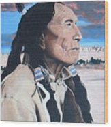 Hehaka Sapa Black Elk Wood Print