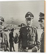 Heindrich Himmler Leftand Heydrich Wood Print by Everett