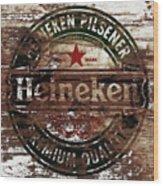 Heineken Beer Wood Sign 1a Wood Print