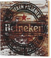 Heineken Beer Wood Sign 1j Wood Print