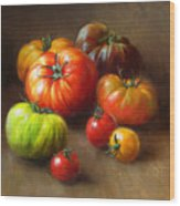 Heirloom Tomatoes Wood Print