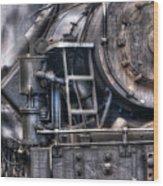 Heisler Steam Engine Wood Print