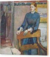 Helene Rouart Wood Print by Edgar Degas