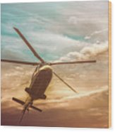 Helicopter Wood Print by Bob Orsillo