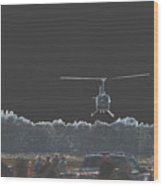 Helicopter Lift Wood Print