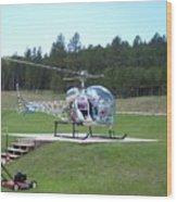 Helicopter Ride South Dakota Wood Print