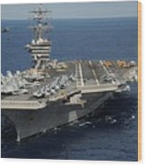 Helicopter's Approaches The Flight Deck Wood Print