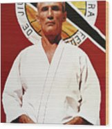 Helio Gracie - Famed Brazilian Jiu-jitsu Grandmaster Wood Print