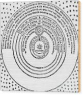 Heliocentric Universe, Thomas Digges Wood Print