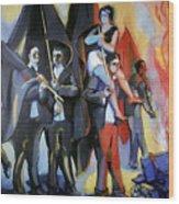 Helion: Paris Riots, 1968 Wood Print
