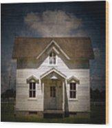 Helis Farm Cottage Wood Print