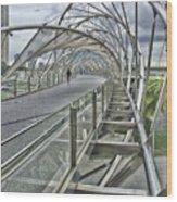 Helix Bridge Wood Print