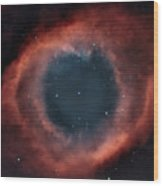Helix Nebula Wood Print by Charles Warren
