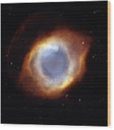 Helix Nebula, Hst Image Wood Print by Nasaesastscit.rector, Nrao