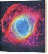 Helix Nebular Wood Print