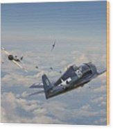 Hellcat F6f - Duel In The Sun Wood Print