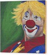 Hello Clown Wood Print