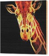Hello Giraffe Wood Print