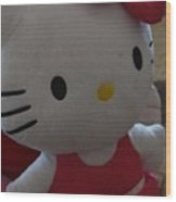 Hello Kitty Backpack Wood Print