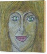 Hello Mary Lou Wood Print