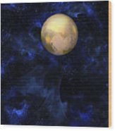 Hello Pluto Wood Print