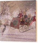 Hello Santa Wood Print