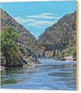 Hells Canyon Dam  Wood Print