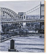 Hells Gate Bridge Triborough Bridge  Wood Print