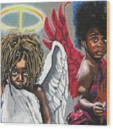 Hells Little Angels Wood Print