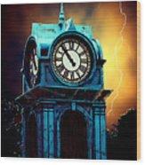 Hells Timeclock Wood Print