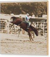 Helluva Rodeo-the Ride 4 Wood Print