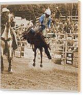 Helluva Rodeo-the Ride 5 Wood Print
