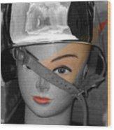 Helmet Wood Print
