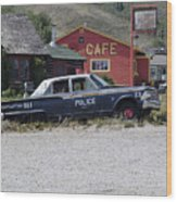 Help Police Wood Print