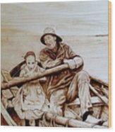 Helping Hands Wood Print by Jo Schwartz
