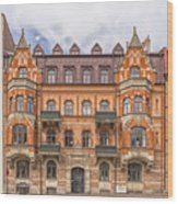 Helsingborg Building Facade Wood Print