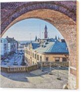 Helsingborg Through The Archway Wood Print