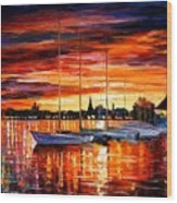 Helsinki - Sailboats At Yacht Club Wood Print