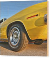 Hemi 'cuda - Ready For Take Off Wood Print