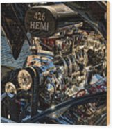 Hemi Engine Wood Print