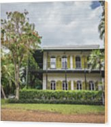Hemingway House, Key West, Florida Wood Print