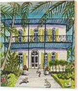 Hemingway's Home Key West Wood Print