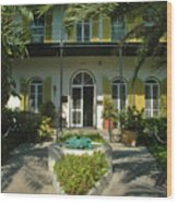 Hemingways House Key West Wood Print