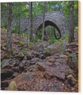 Hemlock Bridge Wood Print
