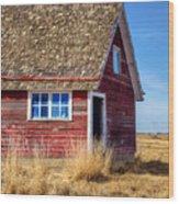 Hen House -1 Wood Print