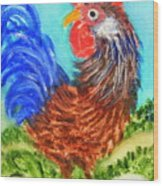 Hen With Egg Wood Print