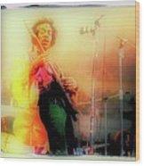 Hendrix Live Wood Print