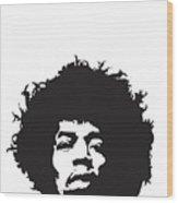 Hendrix No.01 Wood Print by Caio Caldas