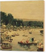 Henley Regatta Wood Print