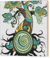 Henna Tree Of Life Wood Print
